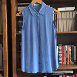 Equipment silk shirt sleeveless